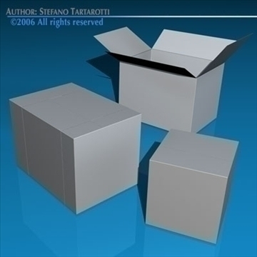 shipping boxes 3d model 3ds dxf c4d obj 82478