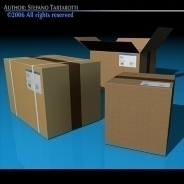 shipping boxes 3d model 3ds dxf c4d obj 82479