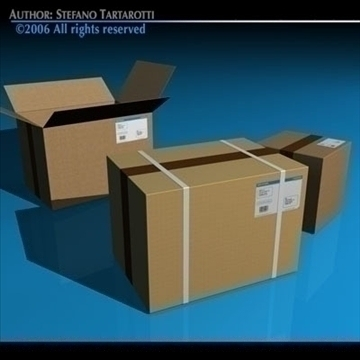 shipping boxes 3d model 3ds dxf c4d obj 82480