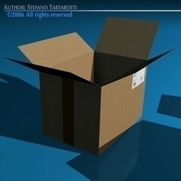 shipping boxes 3d model 3ds dxf c4d obj 82481