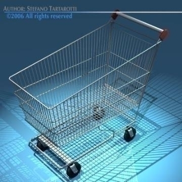 shopping cart 3d model 3ds dxf obj 77894