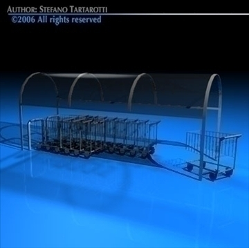 shopping carts with cover 3d model 3ds dxf c4d obj 80523