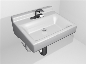 sink and faucet 3d model 3ds max wrl wrz obj 109092