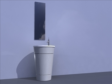 sink and mirror 3d model ma mb obj 82827