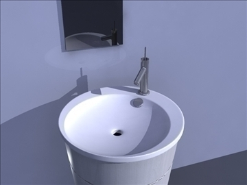 sink and mirror 3d model ma mb obj 82828