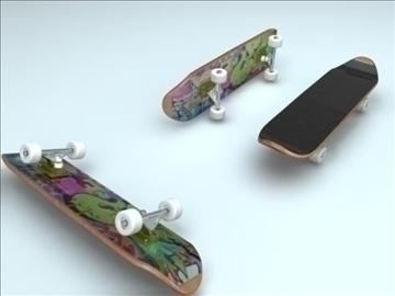 Skateboard 3d model flatpyramid - Skateboard mobel ...