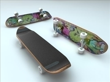skateboard 3d model ma mb obj 91894
