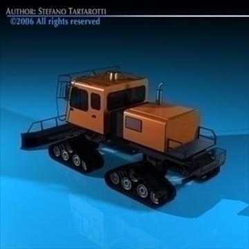 snowcat 3d model 3ds dxf c4d obj 82707