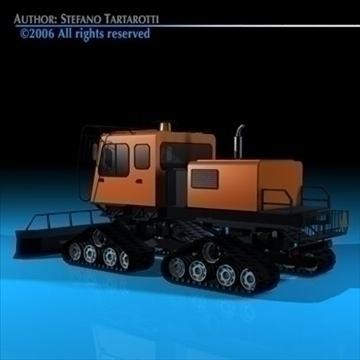 snowcat 3d model 3ds dxf c4d obj 82708