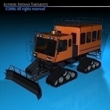 snowcat passengers 3d model 3ds dxf c4d obj 82713