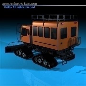 snowcat passengers 3d model 3ds dxf c4d obj 82714