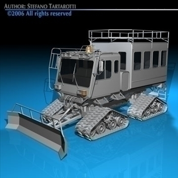snowcat passengers 3d model 3ds dxf c4d obj 82720