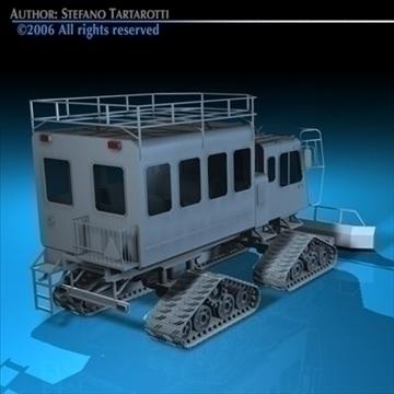 snowcat passengers 3d model 3ds dxf c4d obj 82721