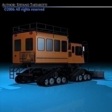 snowcat passengers 3d model 3ds dxf c4d obj 82722