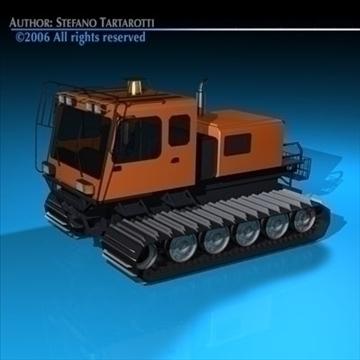 snowcat with tracks 3d model 3ds dxf c4d obj 82749