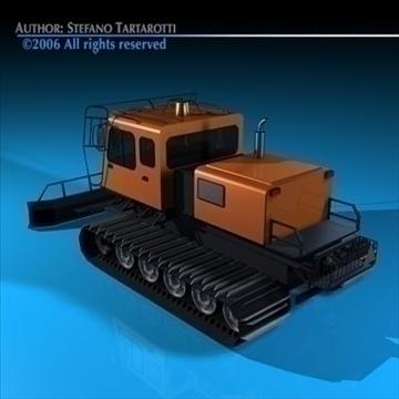 snowcat with tracks 3d model 3ds dxf c4d obj 82750