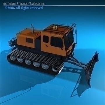 snowcat with tracks 3d model 3ds dxf c4d obj 82751