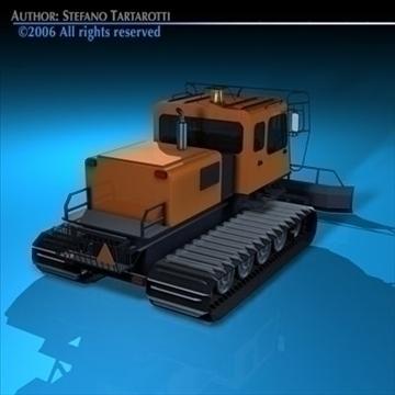 snowcat with tracks 3d model 3ds dxf c4d obj 82752