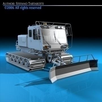 snowcat with tracks 3d model 3ds dxf c4d obj 82754