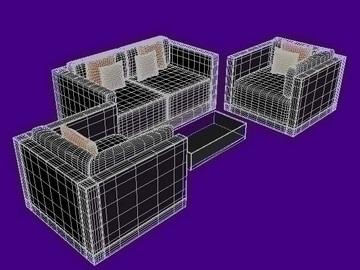 sofa 02 3d model lwo 108800