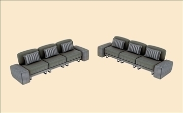 sofa v1 3d model 3ds max dwg obj 92941