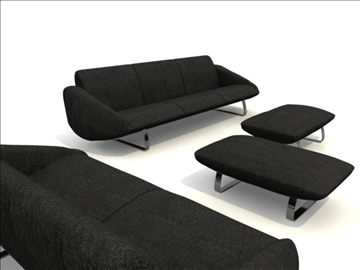 sofa_4pieces 3d model koji sadrži 82779