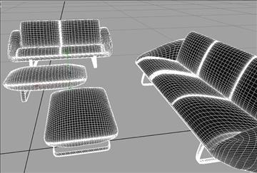 sofa_4pieces 3d model ma mb obj 82781