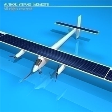 solar impulse 3d model 3ds dxf c4d obj 94150