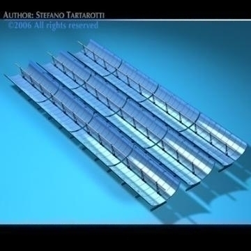 solar thermodynamic panels 3d model 3ds dxf c4d obj 78032