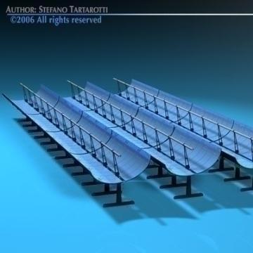 solar thermodynamic panels 3d model 3ds dxf c4d obj 78033