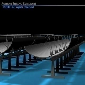 solar thermodynamic panels 3d model 3ds dxf c4d obj 78035