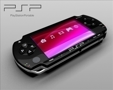 sony psp 3d model 3ds max obj 110313