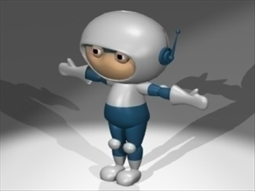 space man 3d model 3ds dxf lwo 80823