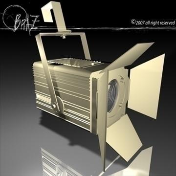 stage light – fresnel 3d model 3ds dxf c4d obj 85198