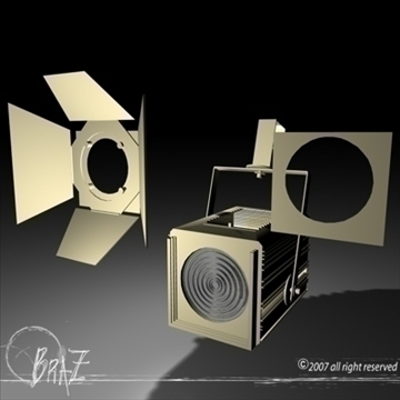 stage light – fresnel 3d model 3ds dxf c4d obj 85200