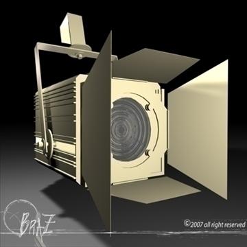 stage light – fresnel 3d model 3ds dxf c4d obj 85201
