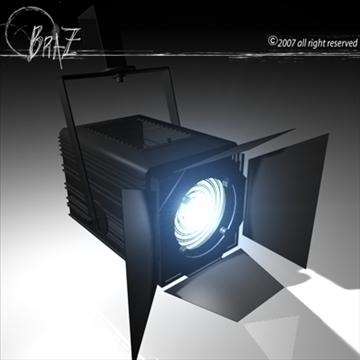 stage light – fresnel 3d model 3ds dxf c4d obj 85202
