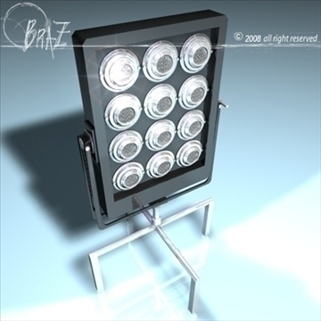 stage light – par 12×650 3d model 3ds dxf c4d obj 88486