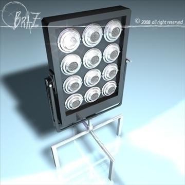 stage light - par 12 × 650 3d model 3ds dxf c4d