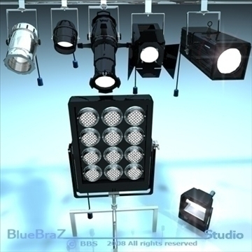 stage lights collection 3d model 3ds dxf c4d obj 89396