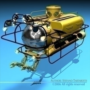 submersible 3d model 3ds dxf c4d obj 84160