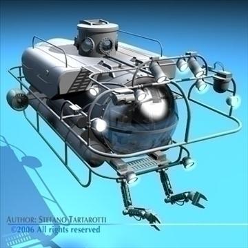 submersible 3d model 3ds dxf c4d obj 84165