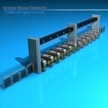 subway gates 3d model 3ds dxf c4d obj 84631
