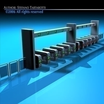 subway gates 3d model 3ds dxf c4d obj 84633