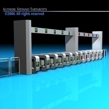 subway gates 3d model 3ds dxf c4d obj 84634
