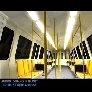 subway train 2 3d model 3ds dxf c4d obj 83281