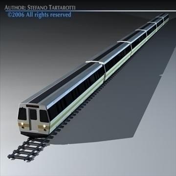 subway train 2 without interior 3d model 3ds dxf c4d obj 83291