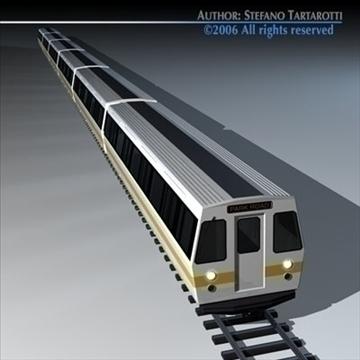 subway train 2 without interior 3d model 3ds dxf c4d obj 83292