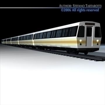 subway train 2 without interior 3d model 3ds dxf c4d obj 83293
