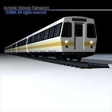 subway train 2 without interior 3d model 3ds dxf c4d obj 83294